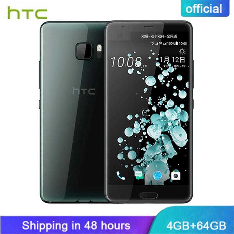 Officiel D'origine HTC U Ultra Double Affichage 4 gb RAM 64 gb ROM Snapdragon 821 Mobile Téléphone 2560x1440px Android7.0 Quad core 3000 mah