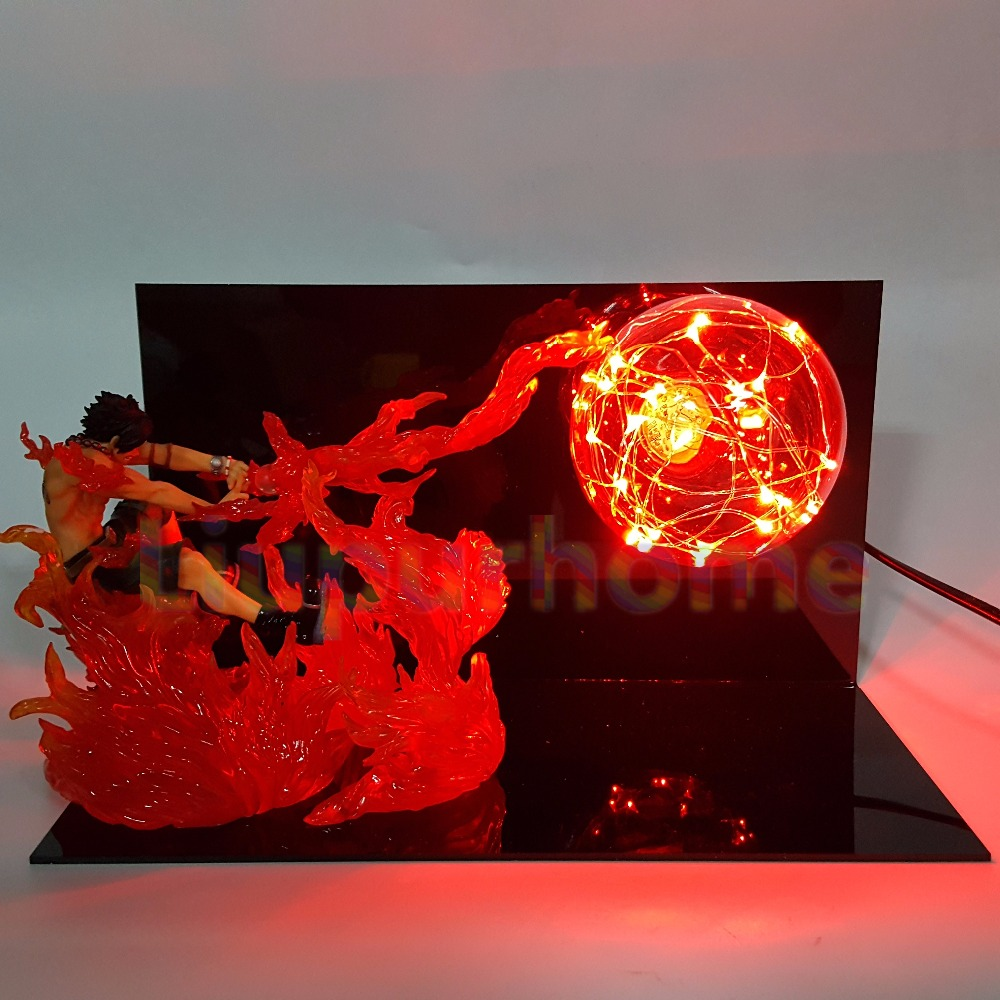 One Piece ACE Fire Ball Led Night Lights One Piece Anime Luffy Sabo Led  Table Lamp Christmas Decor In LED Night Lights From Lights U0026 Lighting On ...