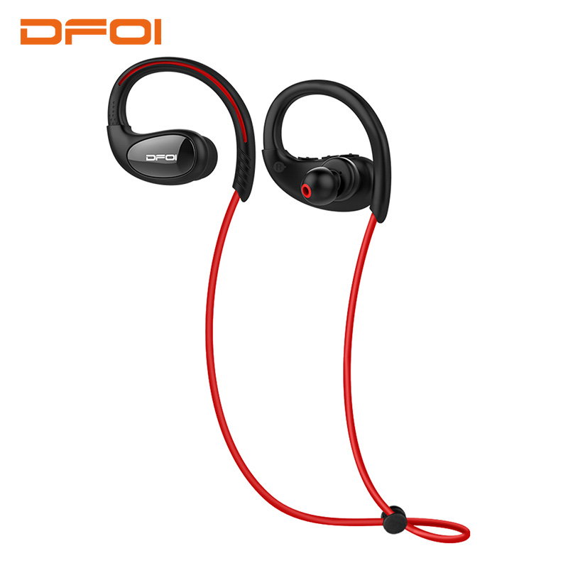 DFOI Waterproof Headphones IPX5 Wireless Bluetooth Earphone Headphone Sports Earpiece Earphones Stereo For Phone iphone Xiaomi dacom l15 wireless headphones sports bluetooth earphone 5 0 stereo ipx5 waterproof running headset 10h music for iphone samsung