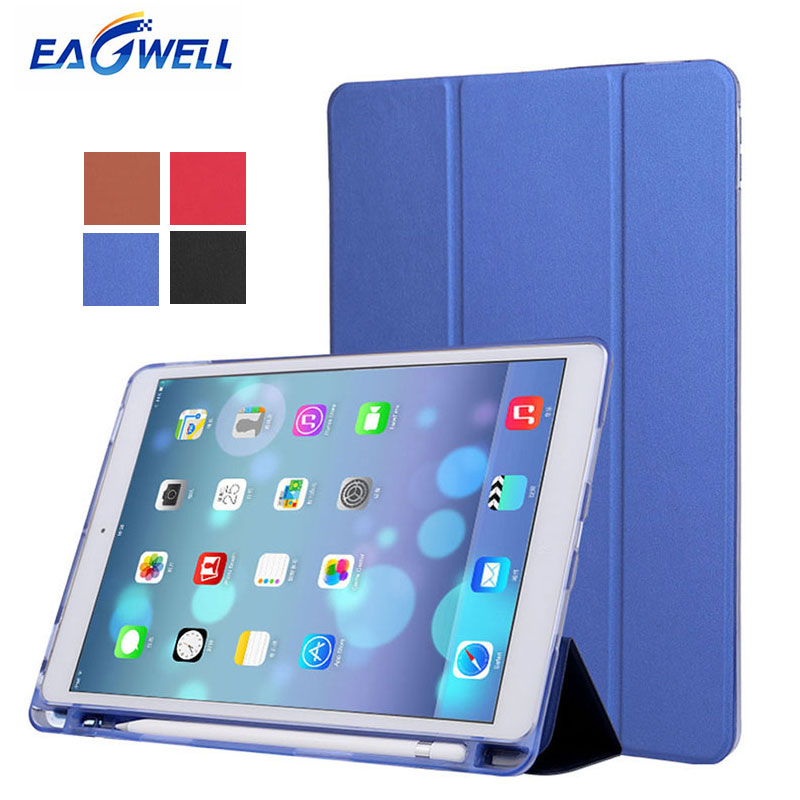 PU Leather Case for Apple iPad 9.7 2017 2018 Smart Cover Flip Stand with Pen Holder Slot Tablet Protective Case for iPad Pro 9.7 leather case flip cover for letv leeco le 2 le 2 pro black