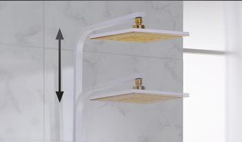 Double Head Shower   Dofaso Gorgeous White Shower Set Body And Gold Shower Tap Luxury White Chrome Shower Set Luxury Wall Mounted Waterfall Shower