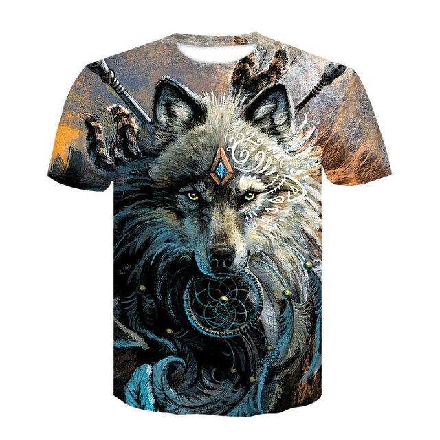 435b2b75d56 Wolf Warrior by SunimaArt 3D T shirts Men T-shirts New Design Drop Ship Tops