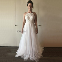 HCWBridal Backless Tulle Wedding Dresses 2019 Halter A Line. US  89.05    piece Free Shipping 6f43b15c672c