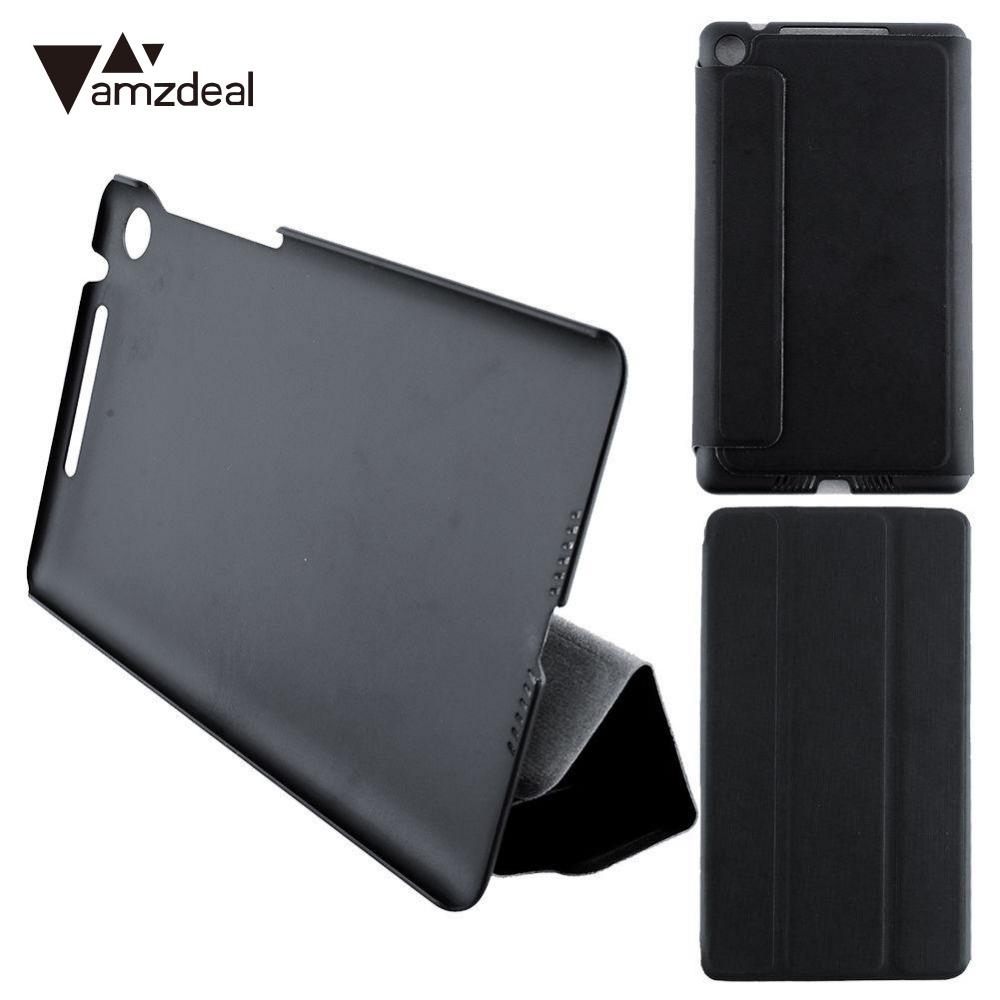 amzdeal Magnetic Ultra Slim Smart Leather Stand Flip Folio Cover Case For Google Nexus 7 FHD 2nd все цены