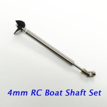 цены Free Shipping 4mm RC Boat Shaft Set Stainless Steel Shaft+Universal Coupling+ Shaft Sleeve Tube+3-blades Propeller Spare Parts