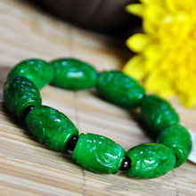 The natural agate carving of male and female six words bracelet hand jewelry evil Mantra