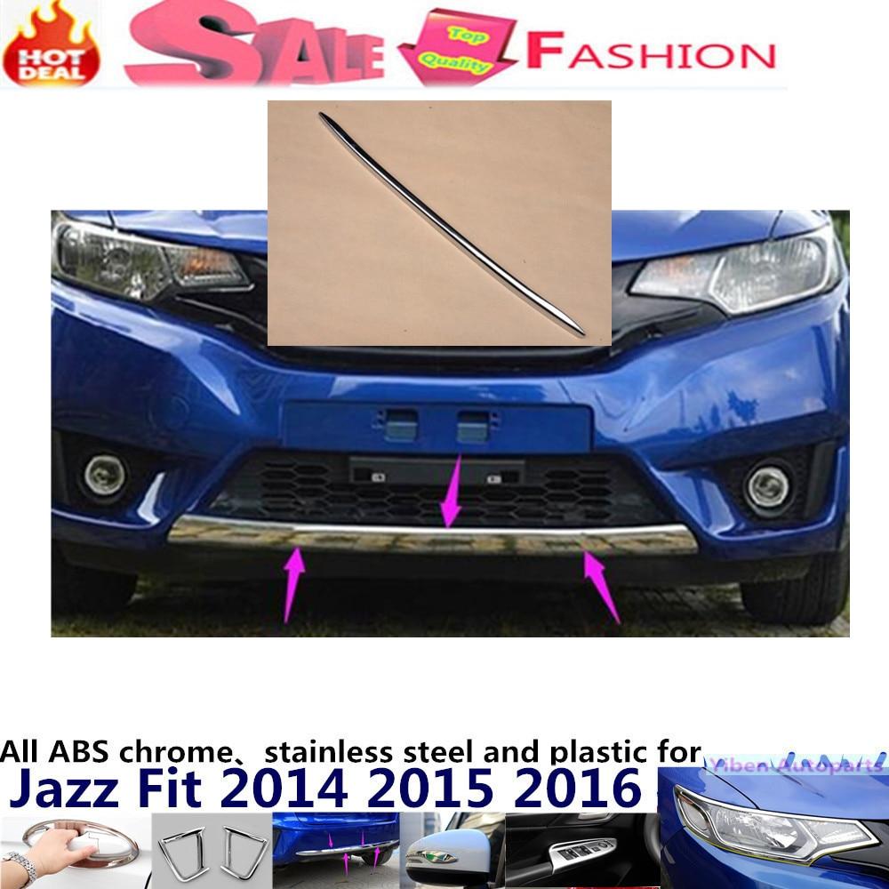 For H08DA FIT JAZZ 2014 2015 2016 Car body cover Bumper engine ABS Chrome trims Front bottom Grid Grill Grille Around edge 1pcs vazhnyj kommentarij igorya ivanovicha strelkova 05 08 2014