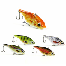 "3.1""/20g Popular Vib Crankbait 3D Eyes Fishing Lure High Quality Fishing Bait 6# Strong Treble Hooks Fish Wobbler Pesca HML06"