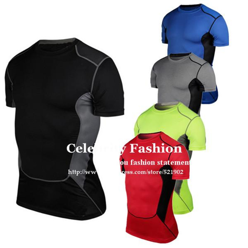 #1033 Men Boys Sports Running Gym Compression Muscle Base Layers Under Tops Shirts Thermal Tees Top Skins Gear Wear Vest S-3XL