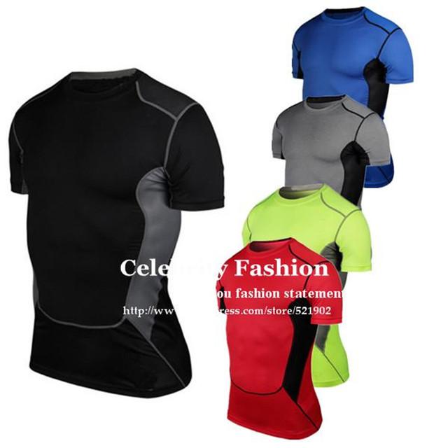 1033 de Los Hombres de Compresión Muscular Capas de Base Bajo Camisas Tops Tees Top Skins Gear Wear Chaleco Térmico S-XXXL Envío Gratis