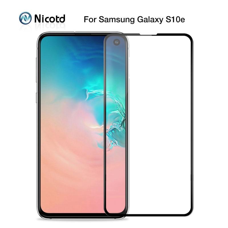 Nicod película de vidro temperado, película protetora de tela para samsung galaxy s10e j4 plus j6 j8 a6 a8 a7 2018 m20 m30 a30 película de vidro protetora a50