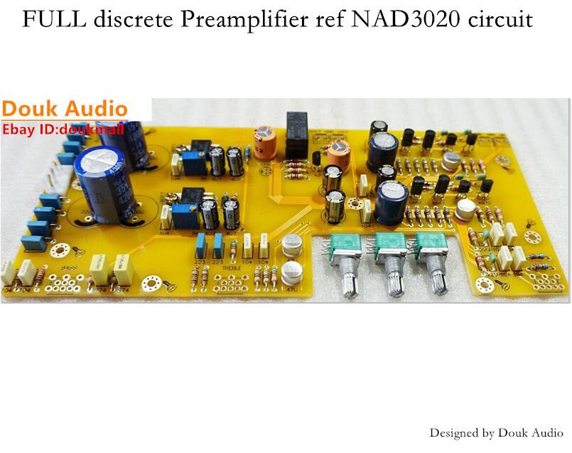 Assembled FULL discrete Preamplifier Board ref NAD3020 circuit Upgraded versionAssembled FULL discrete Preamplifier Board ref NAD3020 circuit Upgraded version