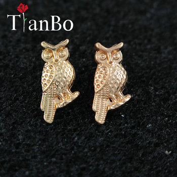 2018 Summer Night Owl Stud Earrings For Women Gift Cute Lovely Animal Pendant Jewelry Earring Cheap Boho Earrings image