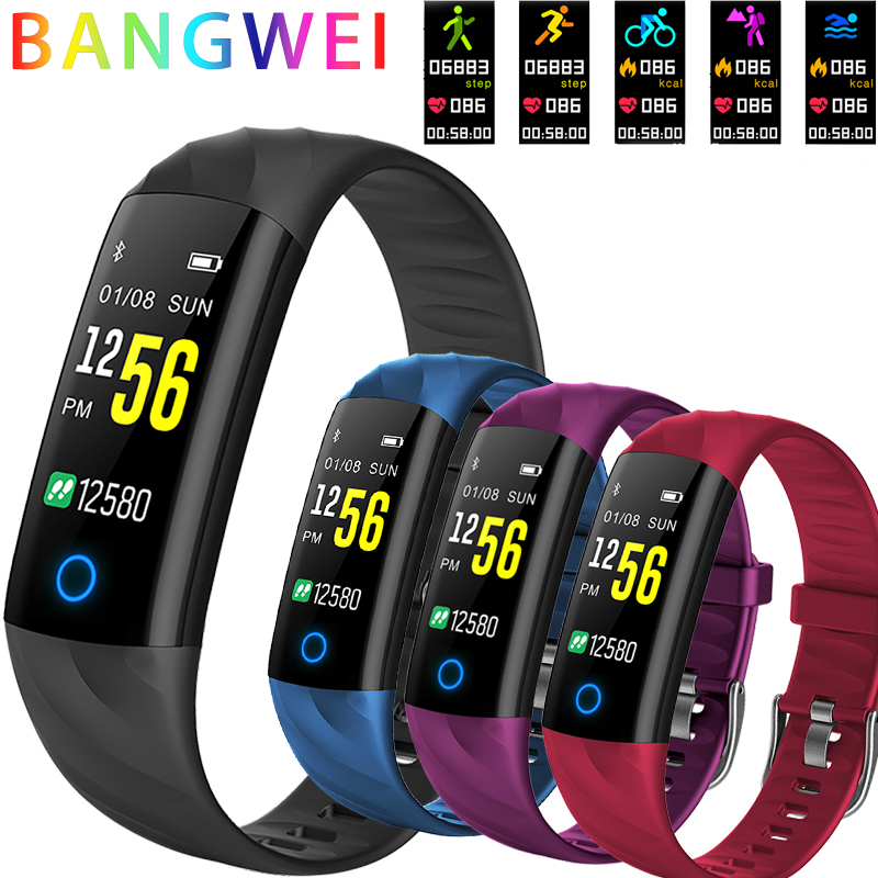 BANGWEI Intelligent Electronic Watch Men And Women Running Cycling Hiking WWaterproof Sport Watch Pedometer LED Fitness Watch
