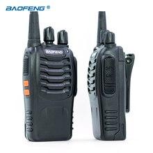 Из 2 предметов Baofeng BF-888S рация UHF FM 400-470 мГц CB радиостанции HAM портативный Радиоприемник 16 каналов стерео охоты станции