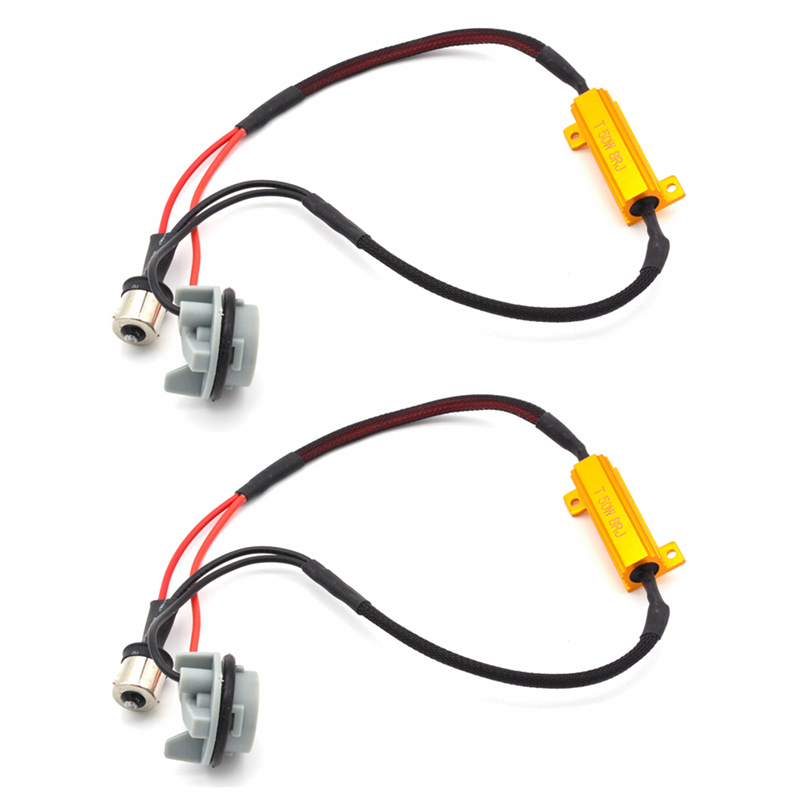 2 Piece 50W 6ohm Car Canbus decoder Load Resistors For BAU15S <font><b>PY21W</b></font> Turn Signal Blink Blinker <font><b>LED</b></font> <font><b>Bulb</b></font> DC12V image