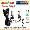 Bi Xenon 35W H4-3 HID Automotive Headlight Replacement Bulbs H4-3 BiXenon Hi/Lo Beam Lamp+wire 4300/6000/8000K FREE SHIPPING