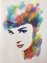 Audrey Hepburn Colorful 21 X 15 CM Temporary Tattoo Stickers Temporary Body Art Waterproof#91