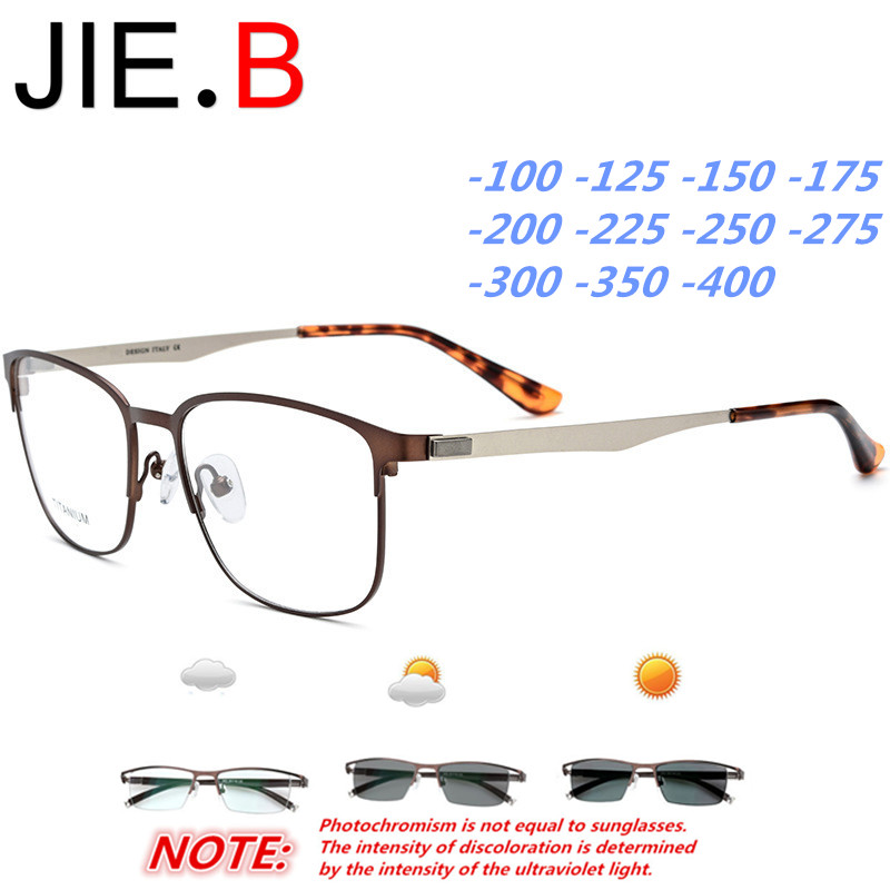 Round frame glasses frame ultra light titanium metal men's screwless glasses sunglasses photochromic, myopia