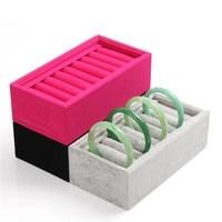 20 18CM Hot Selling Velvet Bracelet Jewelry Display Holder Red Rose Grey Stand Rack Bracelets Boxes
