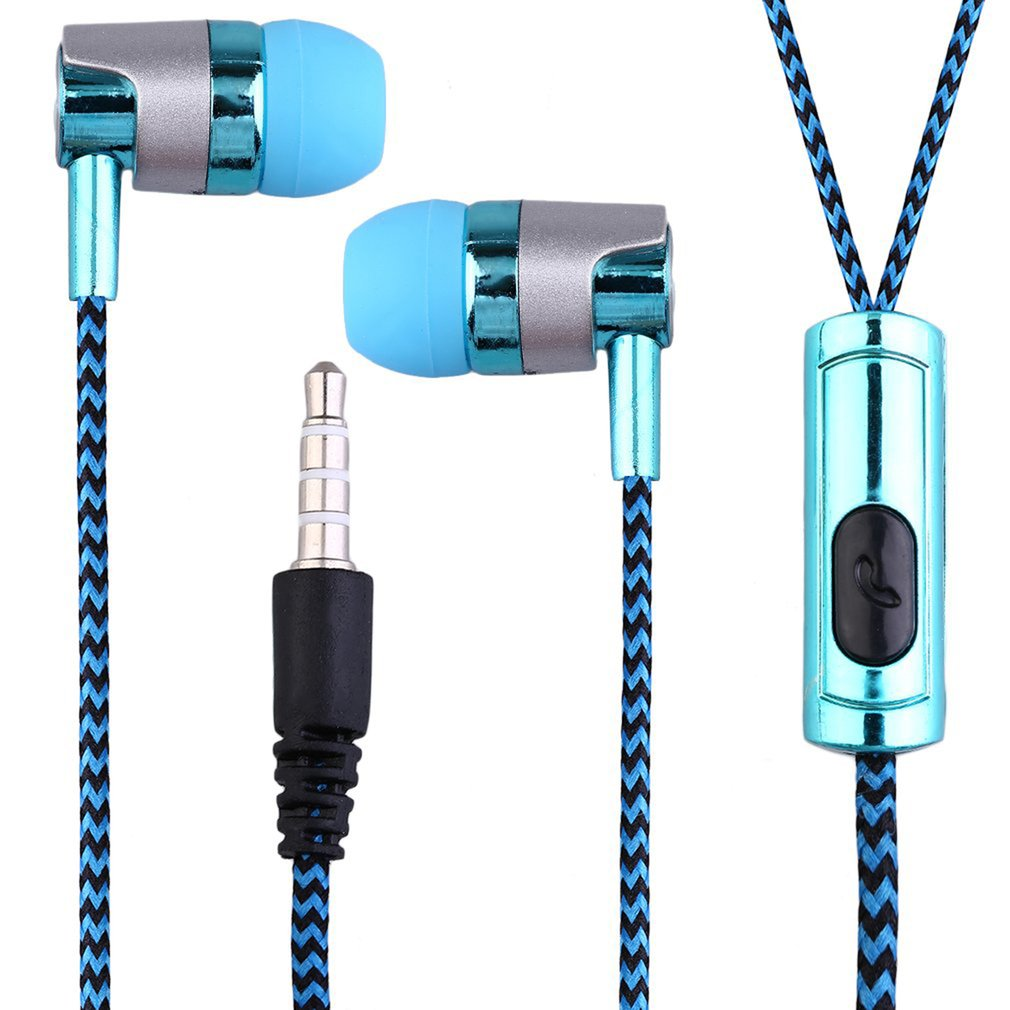 Geflochtene in-ohr Wired in-ohr mit Mikrofon 3,5mm Wired Control Super Bass Universal für <font><b>Android</b></font> iPhone xiaomi image