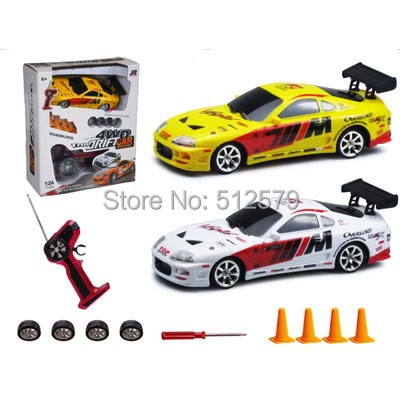Remote Control Mini Size electric 1 24 high speed 4 wheel drive font b RC b