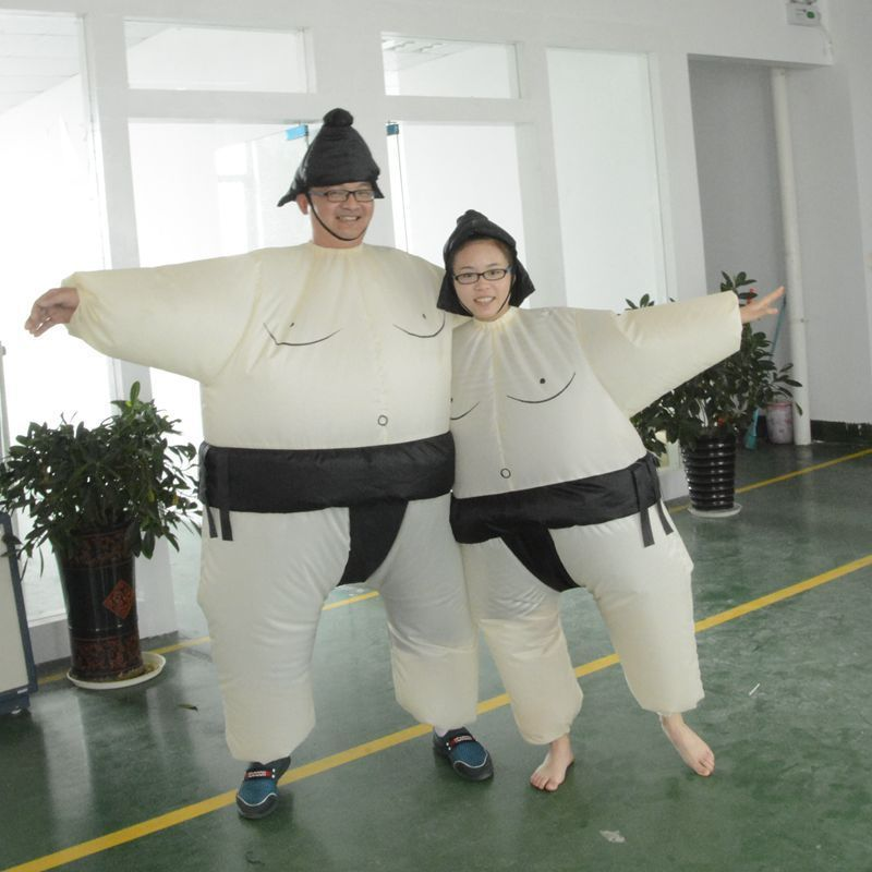 Adult Kids Sumo Sumou Wrestler Cosplay Costume Halloween Funny Dress Inflatable Suit Bottoms