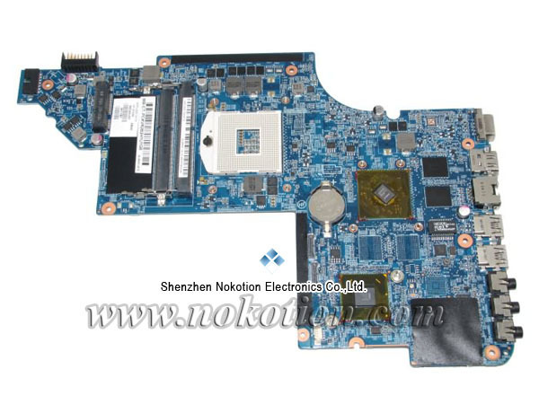 NOKOTION 665345-001 Laptop Motherboard for HP DV6 HM65 Radeon DDR3 Mainboard Full Tested nokotion for hp 4720s 598670 001 48 4gk06 011 laptop motherboard mobility radeon hd 5430 mainboard full tested