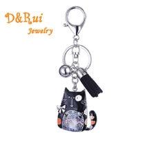 купить Enamel Zinc Alloy Key Chains for Women&Girl Bag Accessories Key Chain Charm Metal Cat Pendant Hot Sale Trendy Brand 2019 Jewelry по цене 210.53 рублей
