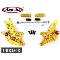 Араши для HONDA CBR250R 2011 2013 Rearset регулируемая подножка Rider сзади комплекты Подножка для мотоцикла CBR 250 R 2012 11 13 ЧПУ
