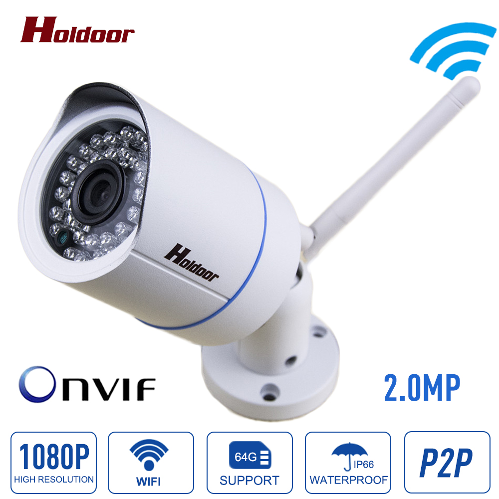 Bullet 1080p Ip Camera 2mp Wifi Wireless Outdoor Waterproof IP66 Infrared Night Vision Motion Detect Cctv Webcam Freeshipping escam qd900 wifi ip camera 2mp full hd 1080p network infrared bullet ip66 onvif outdoor waterproof wireless cctv camera