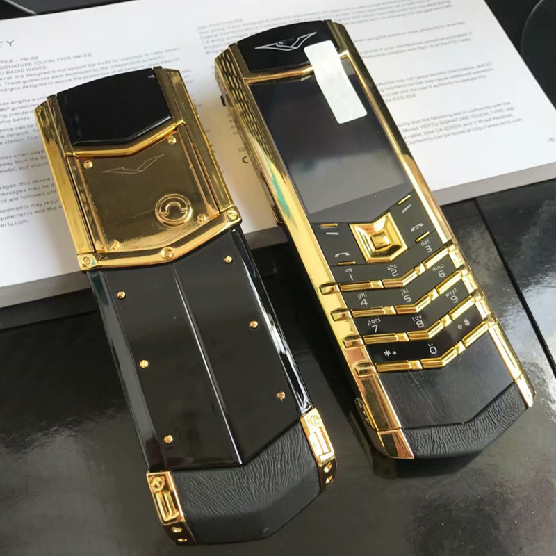 Unlock K8+ Bar Luxury Metal Signature Phone Dual Sim No Camera Normal Leather Ceramics Back Bluetooth IMEI Changable P446