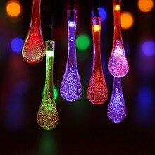 Guirlande solaire à 30 Led, lumière dextérieur, éclairage dextérieur à 30 Led, RGB, lumière blanche chaude, décoration décorative, idéal pour un jardin ou une fête ou noël, 5m