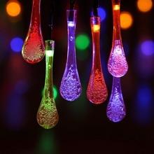 À prova dwaterproof água 30 led string luz 5m solar jardim ao ar livre bola lâmpada rgb branco quente gramado guirlanda decoração festa led lâmpada de natal