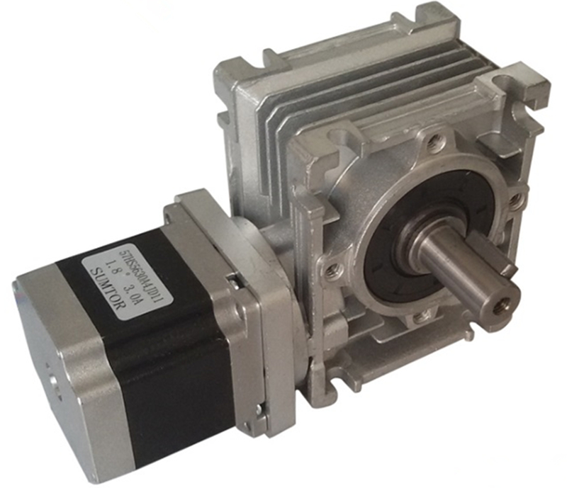 NMRV030 worm gearbox speed reduction geared NEMA23 57HS stepper motor CNC kit with single output shaft