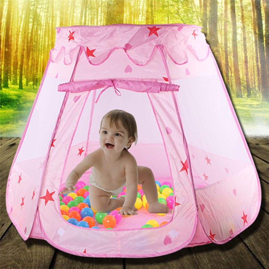 Large Princess Tent for kids Cute Play House Baby Ocean Ball Pool Pit Indoor Outdoor Kids Girls Play Tent Toy Gifts-in Toy Tents from Toys u0026 Hobbies on ... & Large Princess Tent for kids Cute Play House Baby Ocean Ball Pool ...
