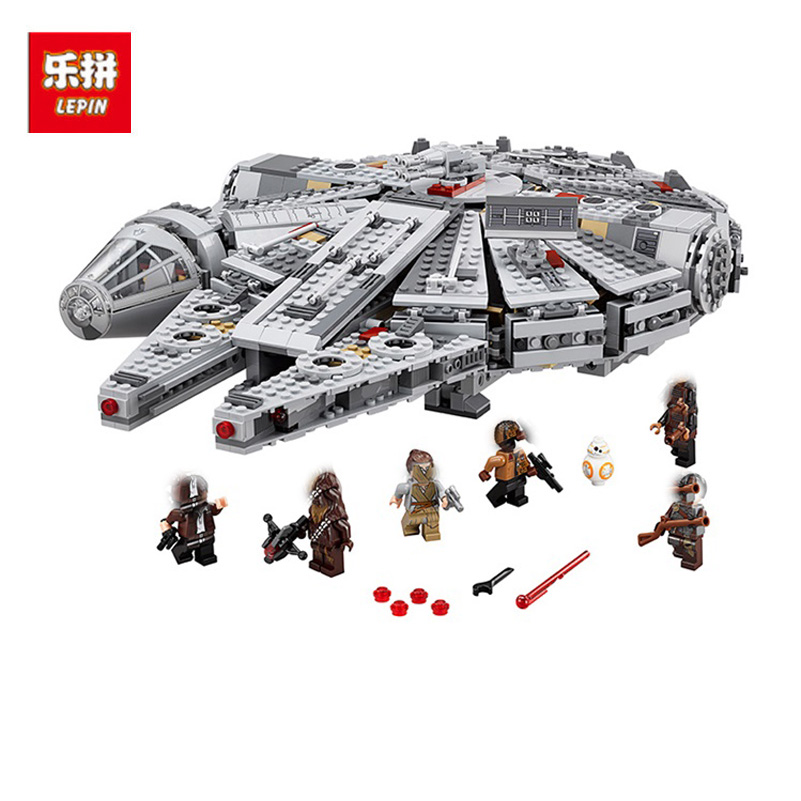 Lepin 05007 1381pcs Star War Building Blocks Millennium Falcon Space Ship Model Toys Compatible Birthday Gifts For Children toys in space