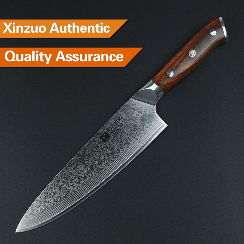XINZUO 8 düymlük aşbaz bıçaqları Yüksək Karbon VG10 Yapon 73 - Mətbəx, yemək otağı və barı - Fotoqrafiya 4