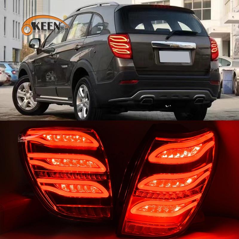 OKEEN 2pcs LED Tail Lights for Chevrolet Captiva 2006 2007 2008 2009 2010 2011 2012 2013 2014 15 2016 2017 Braking Turning Lamp