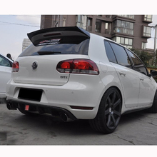цена на O Style Carbon Fiber Rear Trunk Roof Spoiler Wing Use For Volkswagen VW Golf 6 VI MK6 R20 GTI 2010-2013