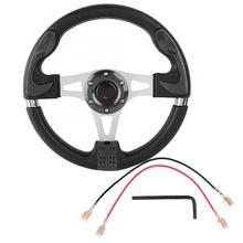 13 дюймов 320 мм универсальный из искусственной кожи автомобиль Спорт гоночный Дрифт руль черный volante deportivo авто аксессуары