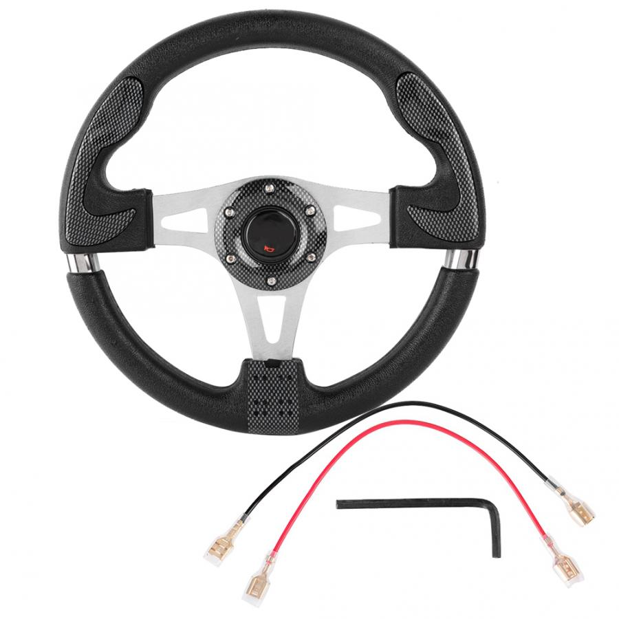 13in 320mm Universal PU Leather Car Sport Racing Drift Steering Wheel Black volante deportivo Auto Accessorie
