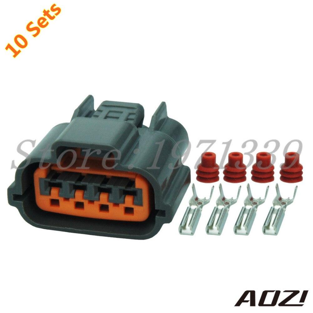 10 Sets Kit Automotive Harness Connector Oxygen sensor Plug Waterproof  Socket 6098 0144 Fits Nissan Sr20det CAS-in Connectors from Lights &  Lighting on ...