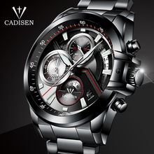 CADISEN Men's business watch Top military brand Casual  Fashion luxury male WristWatch Quartz Stainless Steel Relogio Masculino