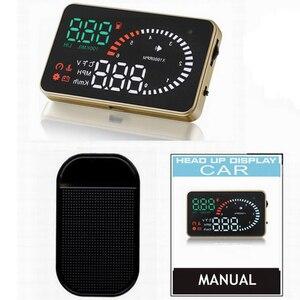 3 inch Smart X6 OBD2 Golden design car head up display HD Universal Fuel consumption Overspeed Alarm Voltage ometer HUD Display(China)