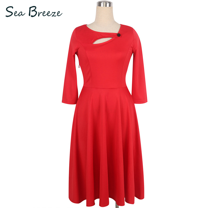 Sea Breeze Autumn New Women Vintage Elegant Button Collar