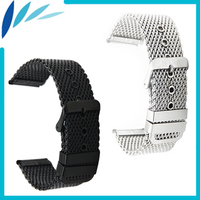 Stainless Steel Watch Band 20mm 22mm For Seiko Pin Clasp Strap Wrist Loop Belt Bracelet Black