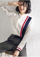 PIXY 100% Heavy Silk Blouse White Office Ladies Tops Spring Women Long Sleeve School Shirts fashionnova lazy oaf Preppy Style
