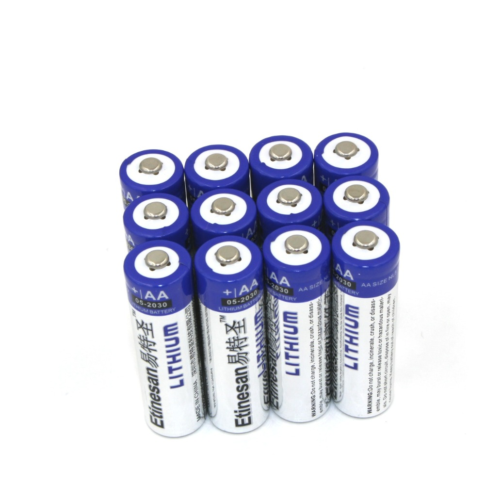 new 12pcs lot etinesan super lithium 1 5v powerful aa batteries single use battery good price. Black Bedroom Furniture Sets. Home Design Ideas