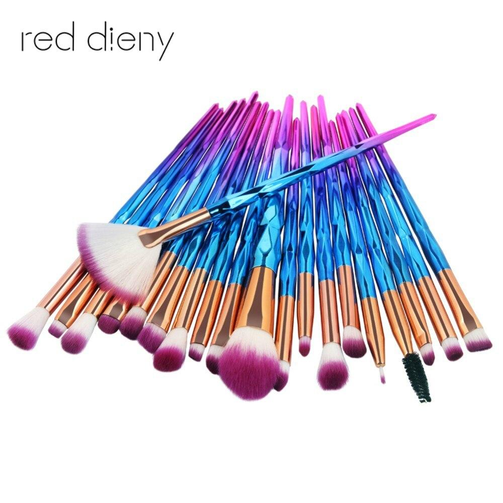 20pcs Makeup Brushes Set Brushes For Eye Cosmetic Make Up Pro Fan-shaped Powder Brush Eyehshadow Eyeliner Eyebrow Brushes